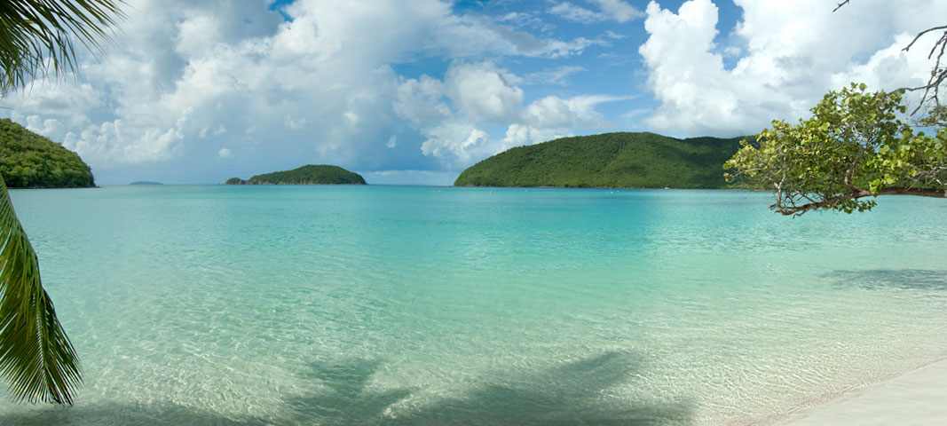 Maho Bay Beach, St John US Virgin Islands National Park