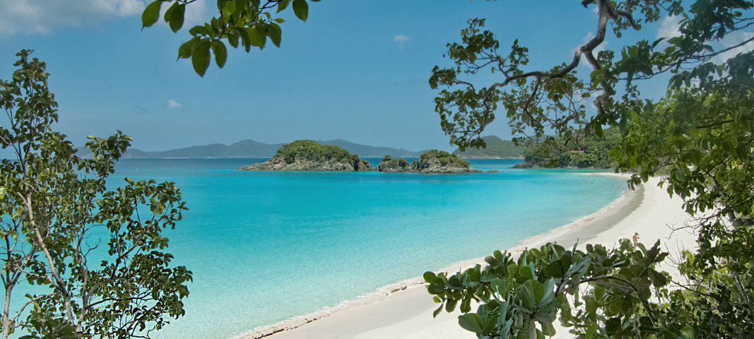 Trunk Bay Beach, St John US Virgin Islands National Park