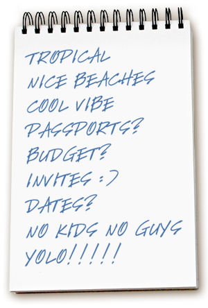 girl friend getaway vacation list