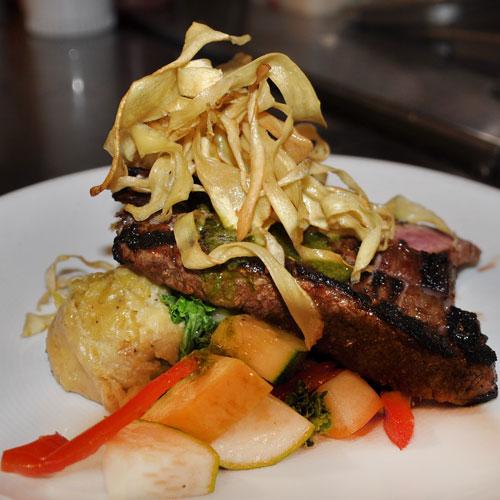The Danforth Restaurant, Coral Bay, St John flank steak