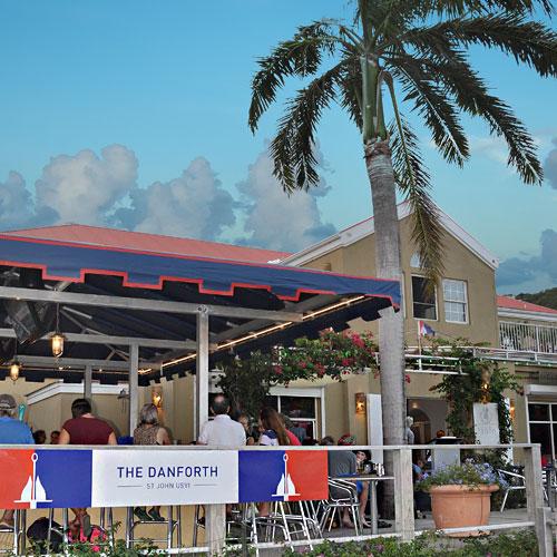 The Danforth Restaurant, Coral Bay, St John, US Virgin Islands outdoor bar