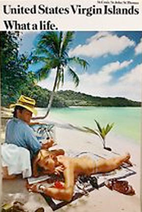 Us Virgin Islands travel poster